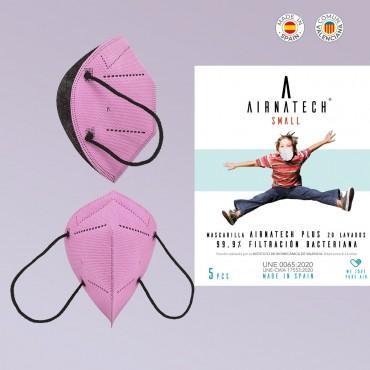 Mascarillas Reutilizables rosa para niños de 8-14 años. Fabricadas en España