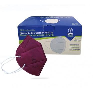 Mascarilla FFP2 GRANATE Fabricada en España  EN149:2001-20 unidades-